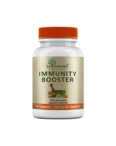 La Nature's Immunity Booster 500mg|Immune  Energy for Men & Women|60 Veg Capsules