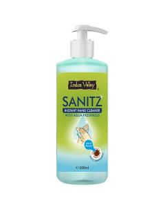 Indus Valley Instant Hand Cleaner Sanitizer With Aqua Freshness - 500ml