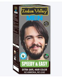 Indus Valley Men Speedy & Easy Dark Brown Hair Color - 220g