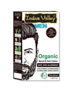 Indus Valley Organic Beard & Hair Color Dark Brown - 60g