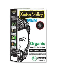 Indus Valley Organic Beard & Hair Color Soft Black - 60g
