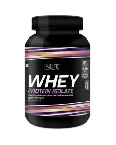 INLIFE 100 Isolate Whey Protein Powder Supplement 27 grams protein per serving (Chocolate 1kg)