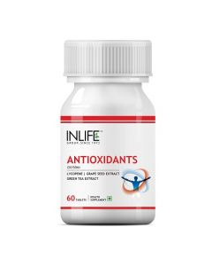 INLIFE Antioxidants Supplement Lycopene Grape Seed Extract,Green Tea Extract Immunity - 60 Tablets