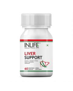 Inlife Ayurvedic Herbs Liver Cleanse Detoxifier Active Support Formula - 60 Veg Capsules