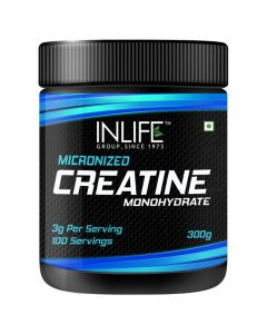 INLIFE Micronized Creatine Monohydrate Powder Supplement 300 grams - Unflavoured
