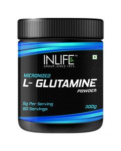 INLIFE Micronized L - Glutamine Powder Supplement 300 grams – Unflavoured