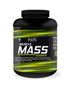 InLife Muscle Mass Gainer with Whey Protein Powder Bodybuilding Supplement ( 3 kg,Chocolate Flavor )