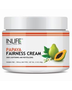 Inlife Natural Papaya Skin Lightening and Revitalizing Fairness Cream 100g