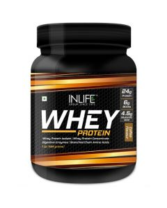 INLIFE Whey Protein Powder - 1 lbs (Coffee Flavour)