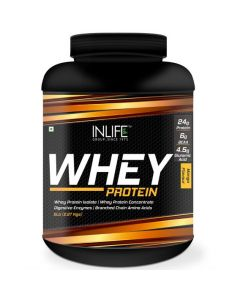 INLIFE Whey Protein Powder 5 lbs (Mango Flavor) Body Building Supplement