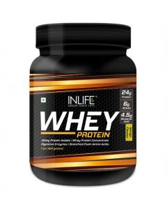 Inlife Whey Protein Powder With Isolate Digestive Enzymes- 454 Grms (Mango 1Lb)