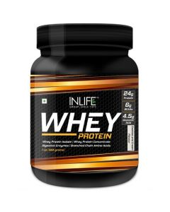 Inlife Whey Protein Powder With Isolate Digestive Enzymes - 454 Grams (Cookies  Cream 1Lb)