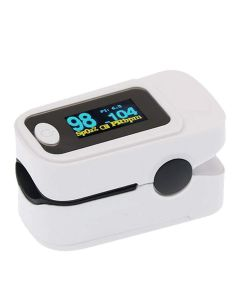 iTurtle Fingertip OLED Type Pulse Oximeter measures Oxygen Saturation, Pulse Rate (SpO2) & Perfusion Index, 1 Year Warranty (White)