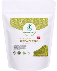 Herbs and Crops Natural Heena Powder Green - 227g For Hair Color