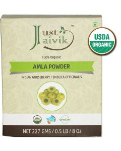 Just Jaivik 100% Organic Amla Powder - 227g
