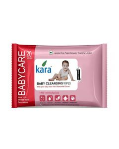Kara Cleansing Baby Wipes 20 Wipes