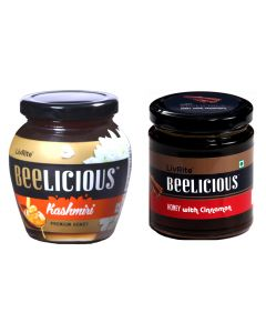 Beelicious Kashmiri Premium Honey - 250 gms & Honey with Cinnamon - 250 gms