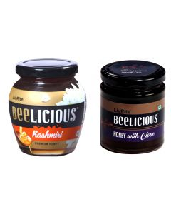 Beelicious Kashmiri Premium Honey - 250 gms & Honey with Clove - 250 gms