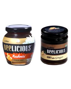 Beelicious Kashmiri Premium Honey - 250 gms & Honey with Ginger - 250 gms