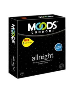Moods All Night 20's Condom (Pack of 2) Condom (Set of 20, 40S)