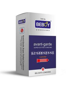 Beboy Avant-Garde Super Dotted Condoms - 12 Count (Strawberry Flavour)
