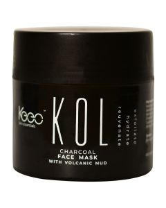 KOL by Keeo, Activated Bamboo Charcoal Infused Body and Face Exfoliating Scrub