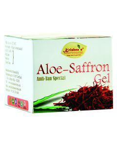 Krishna's Aloe-Saffron  Gel Anti Tan and Skin Rejuvenation 100 gm