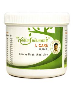 Hakeem Suleman Khans L Care (45 Caps) Unani herbal formulation for clear, glowing, radiant and healthy skin