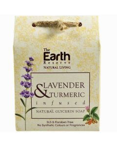 The Earth Reserve Lavender & Turmeric Infused Natural Glycerin Soap - 100 gm