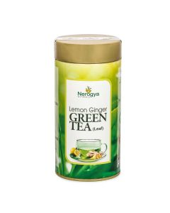 Nerogya Naturals Lemon Ginger Green Tea (Leaf) - 100g
