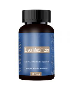 Vitaminhaat Liver Maximizer (NAC) For Liver Support 600 mg - 75 Capsules