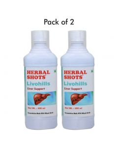Livohills Herbal Shots 500ml (Pack of 2)