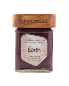 The Earth Reserve All Natural Lovilovi & Bird's Eye Chilly, Sweet & Spicy Pickle - 300 gm
