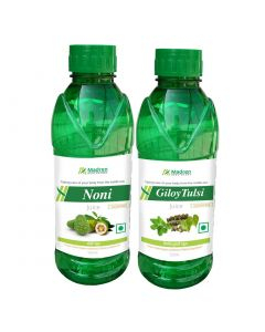 Madren Healthcare Noni & Giloy Tulsi Juice 500 ml (Combo Pack)