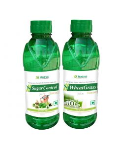 Madren Healthcare Sugar Care & Wheat Grass Juice 500 ml (Combo Pack)