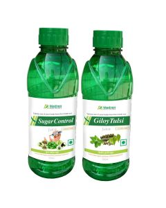 Madren Healthcare Sugar Care & Giloy Tulsi Juice 500 ml (Combo Pack)