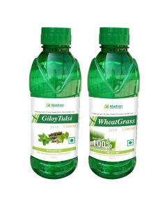 Madren Healthcare Giloy Tulsi & Wheat Grass Juice 500 ml (Combo Pack)