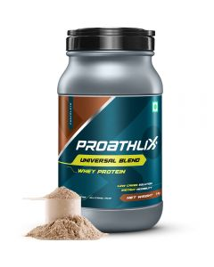 Proathlix Universal Blend Whey Protein Powder, Chocolate Flavor | Low Carb Solution | 0.22 lbs/1 Kg