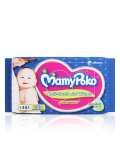 MamyPoko Antibacterial baby Wipes 20 sheets