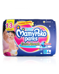 MamyPoko Pants Extra Absorb Diaper Large Size pack 4