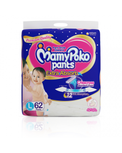 MamyPoko Pants Extra Absorb Diaper Large Size pack 62