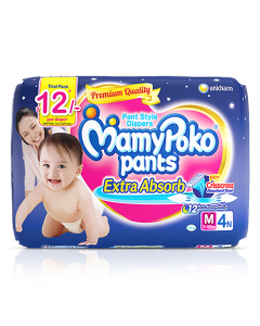 MamyPoko Pants Extra Absorb Diaper Medium Size pack 4