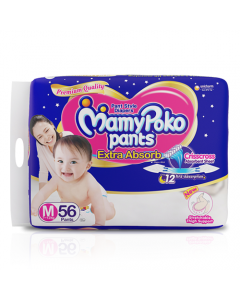 MamyPoko Pants Extra Absorb Diaper Medium Size pack 56