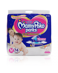 MamyPoko Pants Extra Absorb Diaper Medium Size pack 74