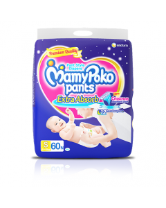 MamyPoko Pants Extra Absorb Diaper Small Size pack 60