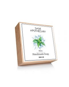 Sage Apothecary Mint Handmade Soap - 100g