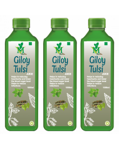 Mint Veda Giloy Tulsi (Sugar Free) Juice (1liter) Pack of 2