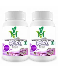 Mint Veda Horny Goat Weed Extract With Maca Root Vegetarian 120 Capsules Pack of 1
