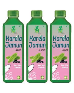 Mint Veda Karela Jamun (Sugar Free) Juice (1liter) Pack of 2