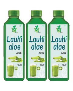 Mint Veda Lauki Aloevera (Sugar Free) Juice (1liter) Pack of 2